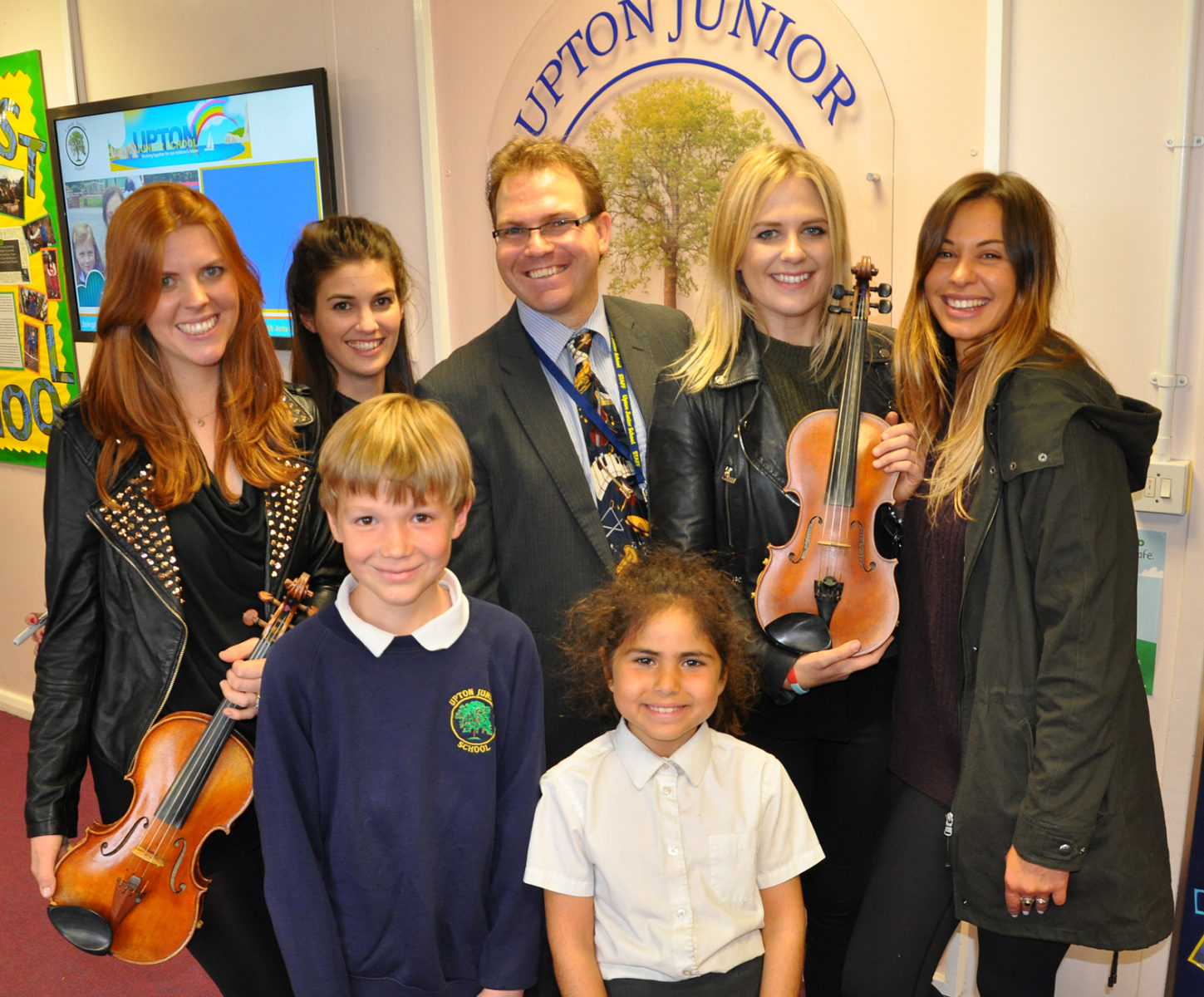 Escala with Scott Welcomme and two pupils of Upton Junior School