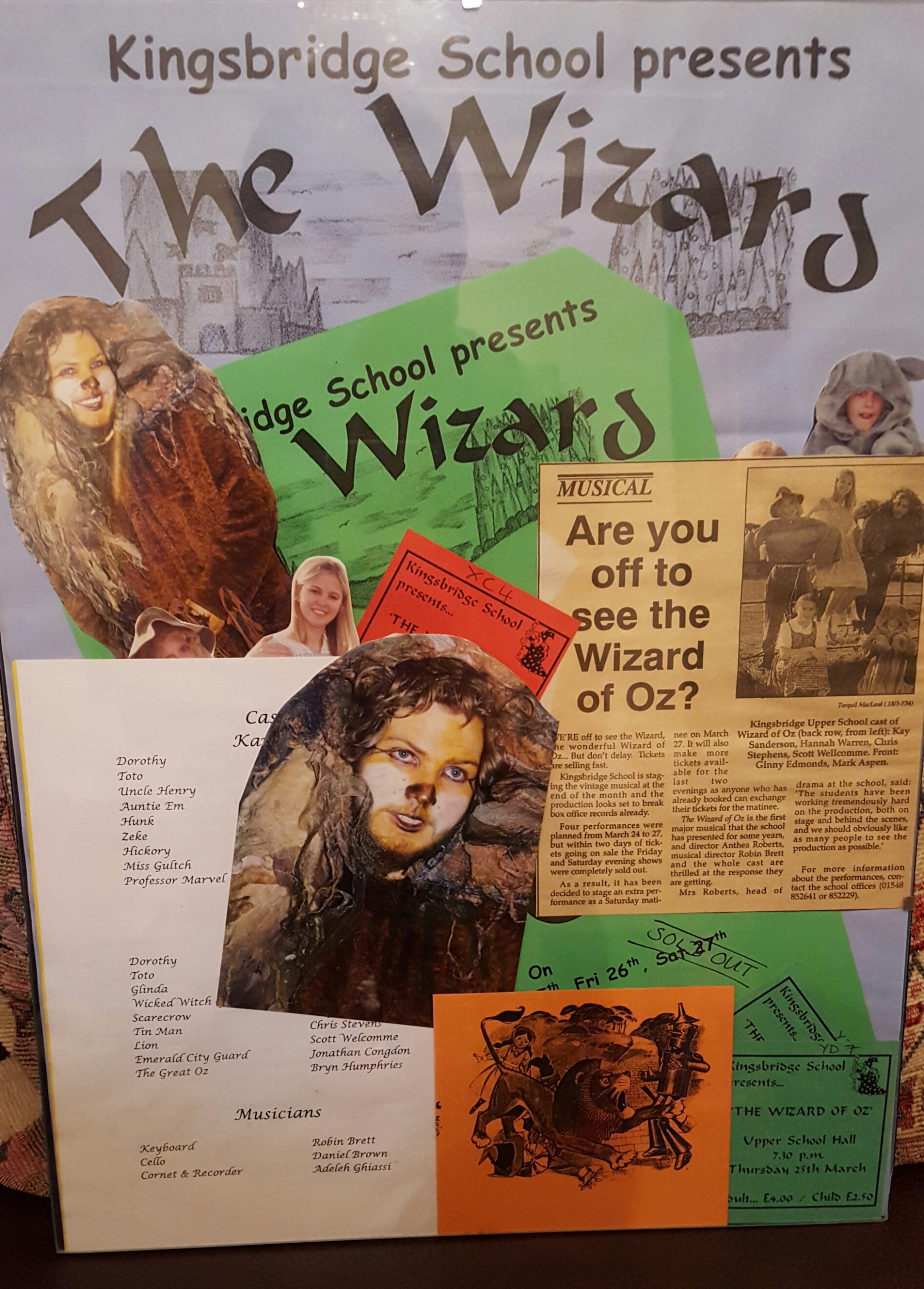 Scott Welcomme as The Lion in The Wizard of Oz