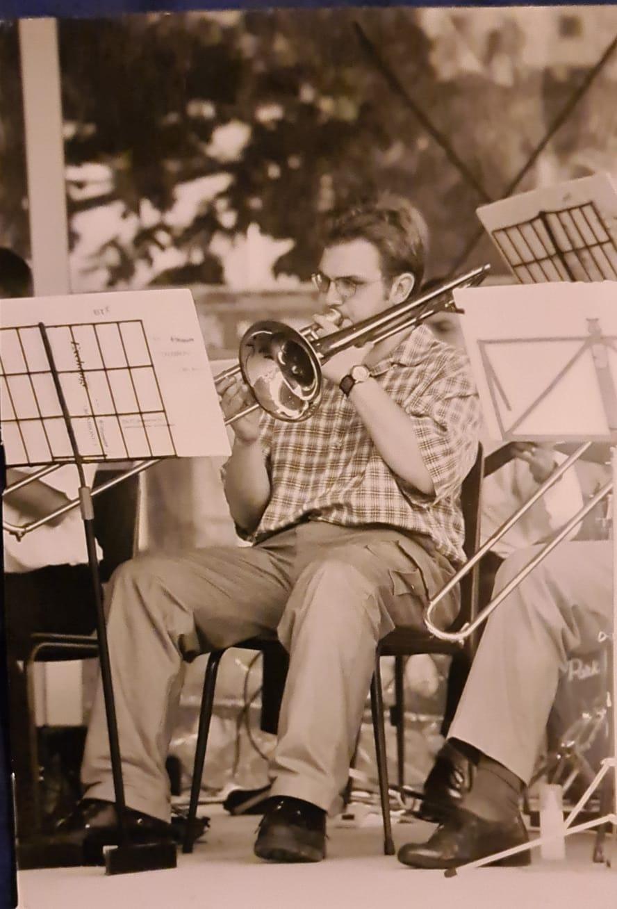 Scott Welcomme playing Trombone Jazz band